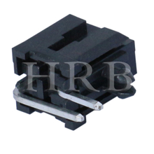 DIP M3045R Right Angle Dual Row Header Connector with Snap-in Plastic Peg PCB Lock